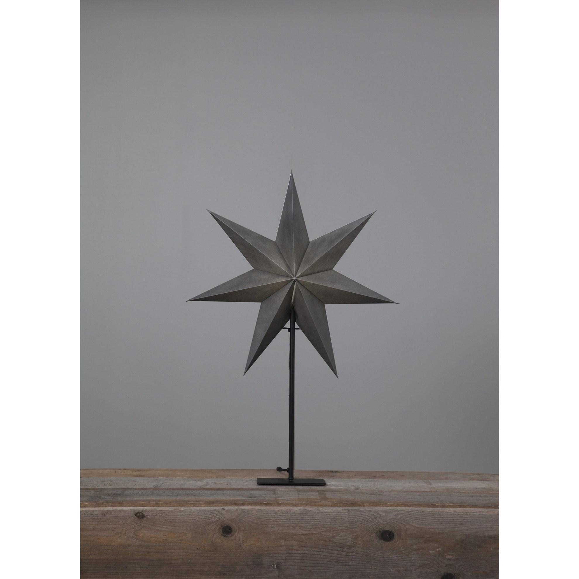 """Stolní lampa hvězda """"Ozen"""" šedá, patice E14_1"""