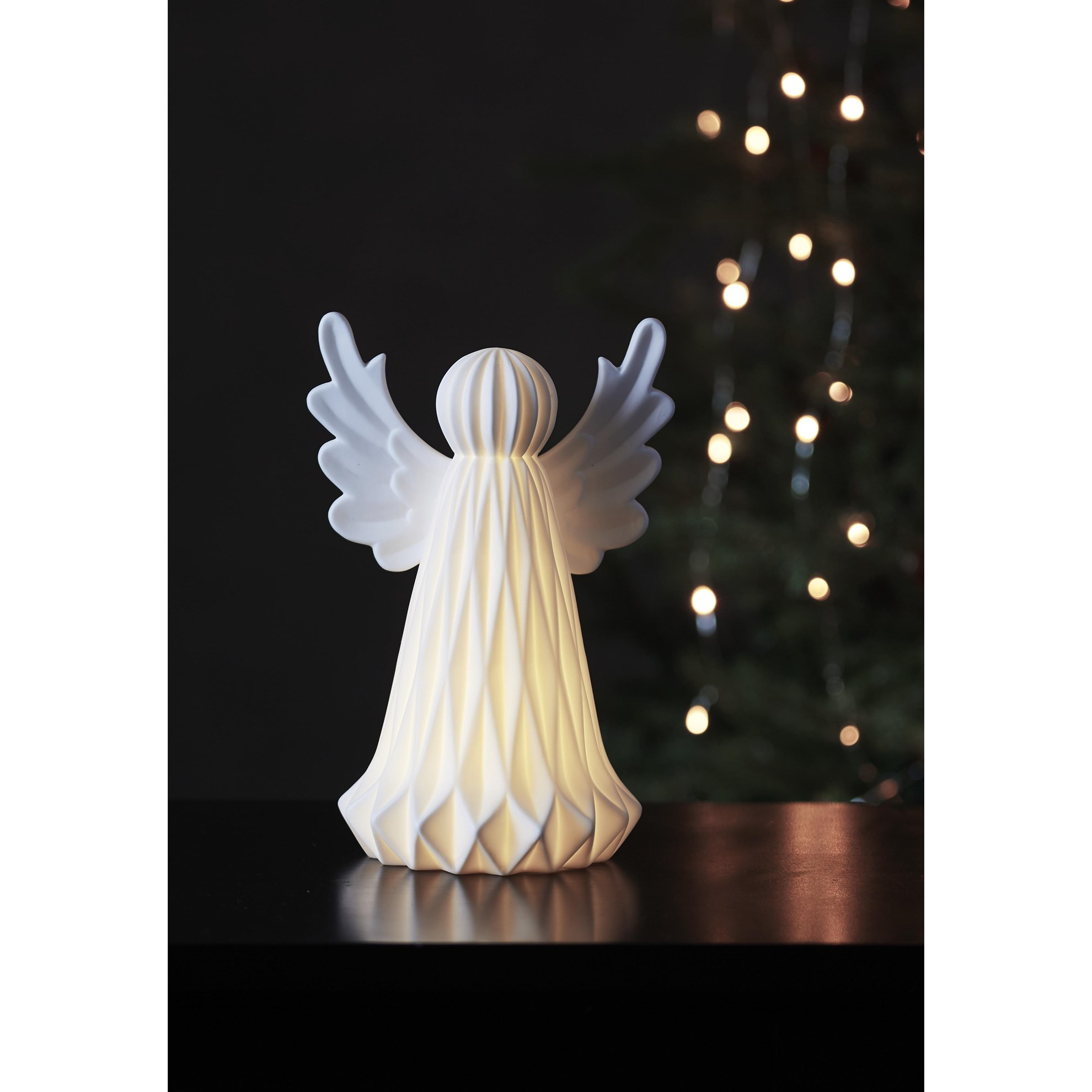 "LED dekorační anděl ""Vinter"" 23 cm_0"