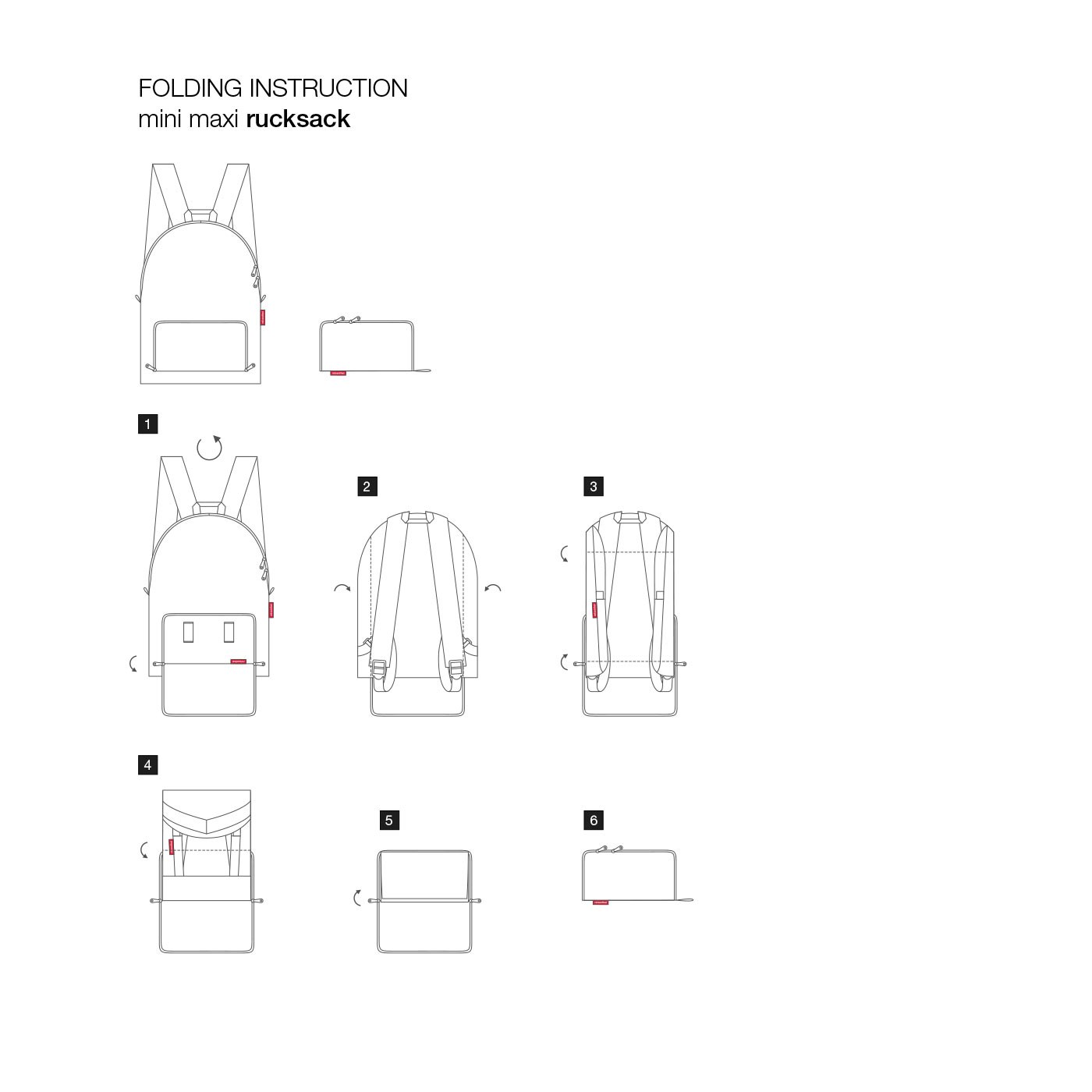 Skládací batoh Mini Maxi Rucksack floral 1_1