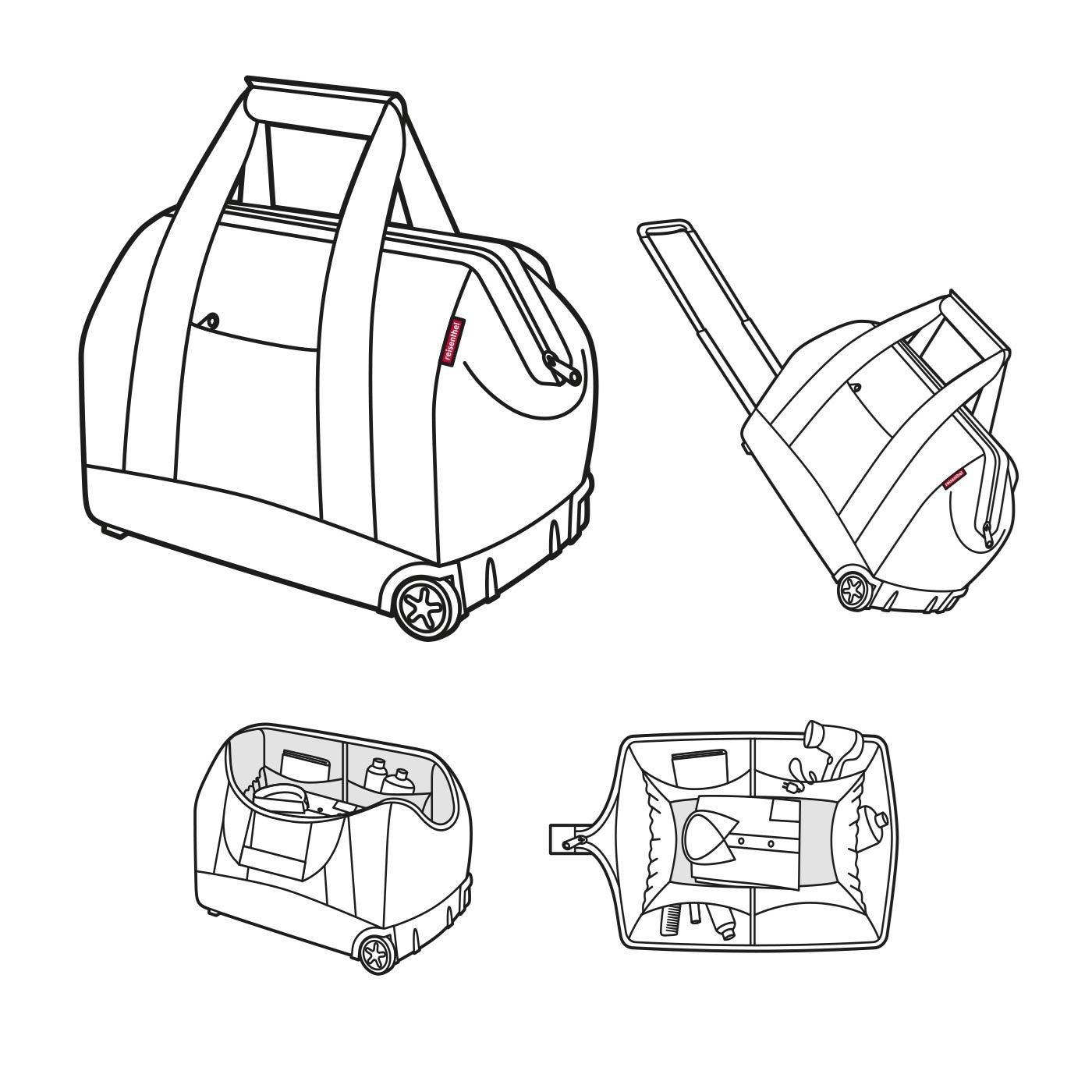 Cestovní taška na kolečkách Allrounder trolley floral 1_4