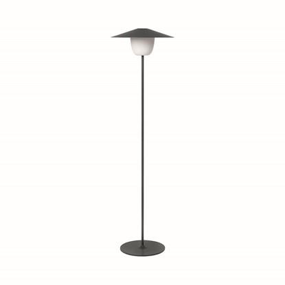 Přenosná LED lampa 120 cm černá_0