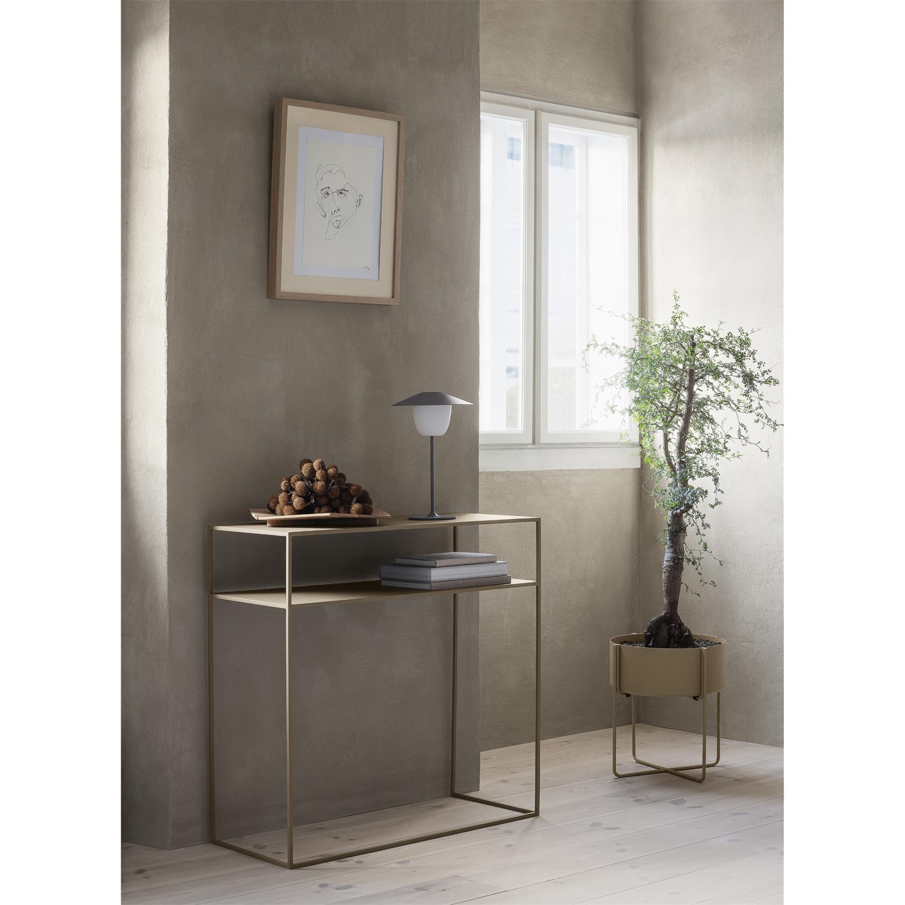 Stolek ke zdi FERA 80 cm kovově šedý_0