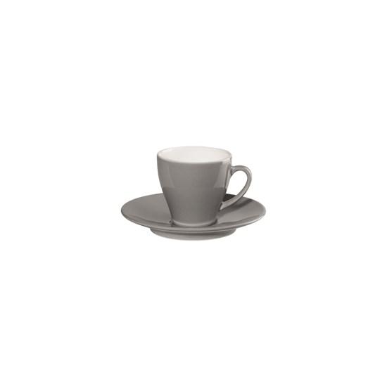 Šálke na espresso s podšálkme CAFFÉ TI AMO 0,1 l, šedý_0