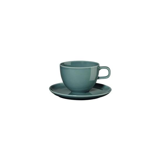 Šálek na kávu s podšálkem KOLIBRI 250 ml, petrolejový_0
