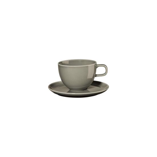 Šálek na kávu s podšálkem KOLIBRI 250 ml, šedý_0