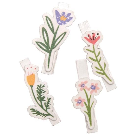 Dekorační kolíčky FLOWERS bílá SET/4 ks_1