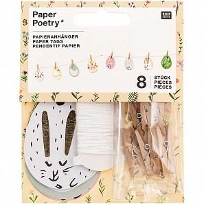 Papír. dekorace s kolíčky EGGS SET/8 ks_0