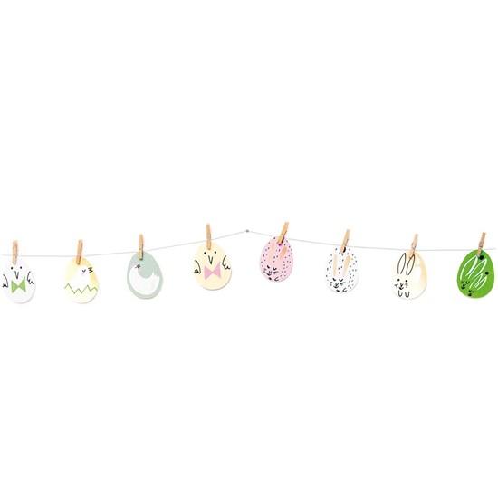 Papír. dekorace s kolíčky EGGS SET/8 ks_4