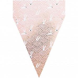 Papírová girlanda FLOWERS 15 vlajek_3