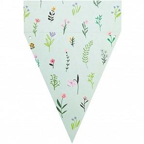 Papírová girlanda FLOWERS 15 vlajek_4