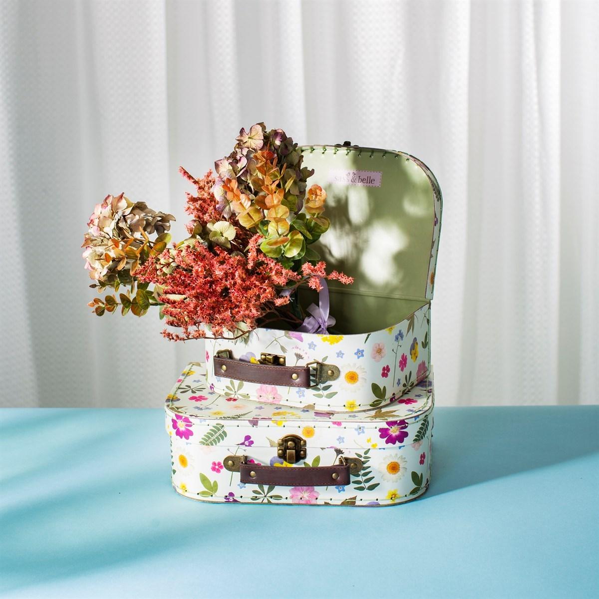 Dětské kufříky Pressed Flowers SET/2ks_0