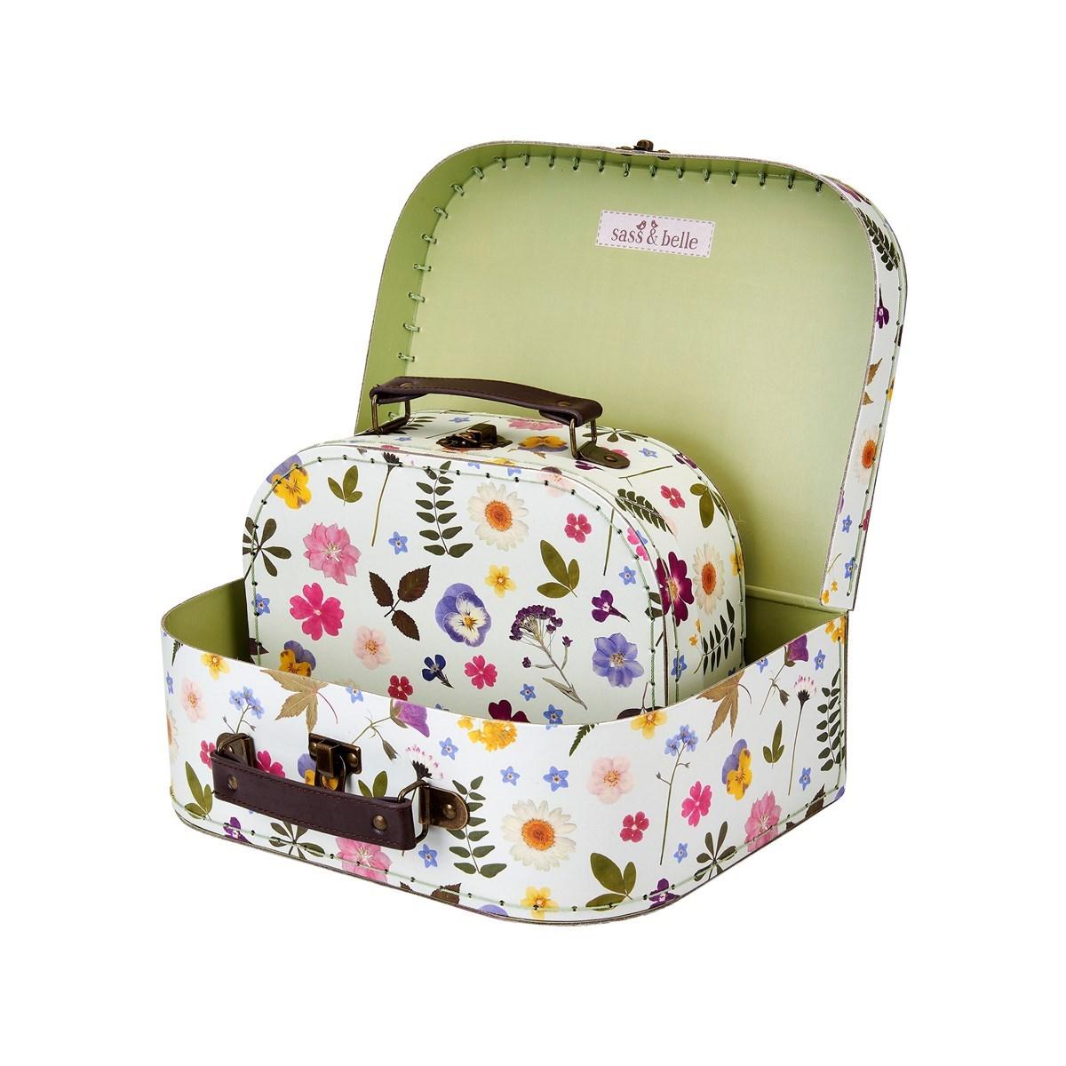 Dětské kufříky Pressed Flowers SET/2ks_1