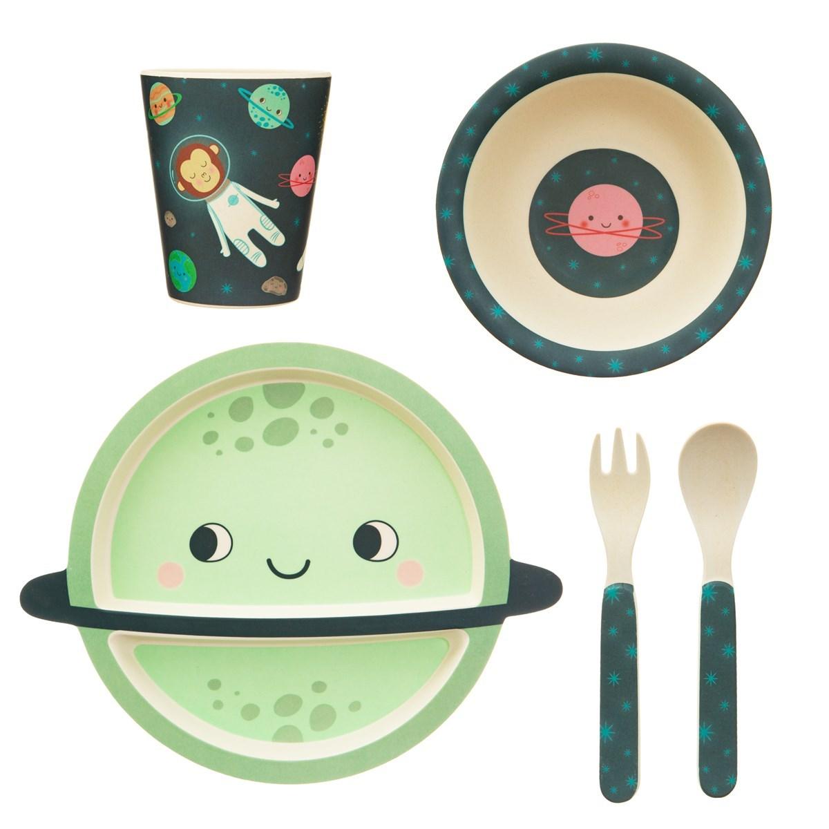 Dětský jídelní set Space Explorer_0