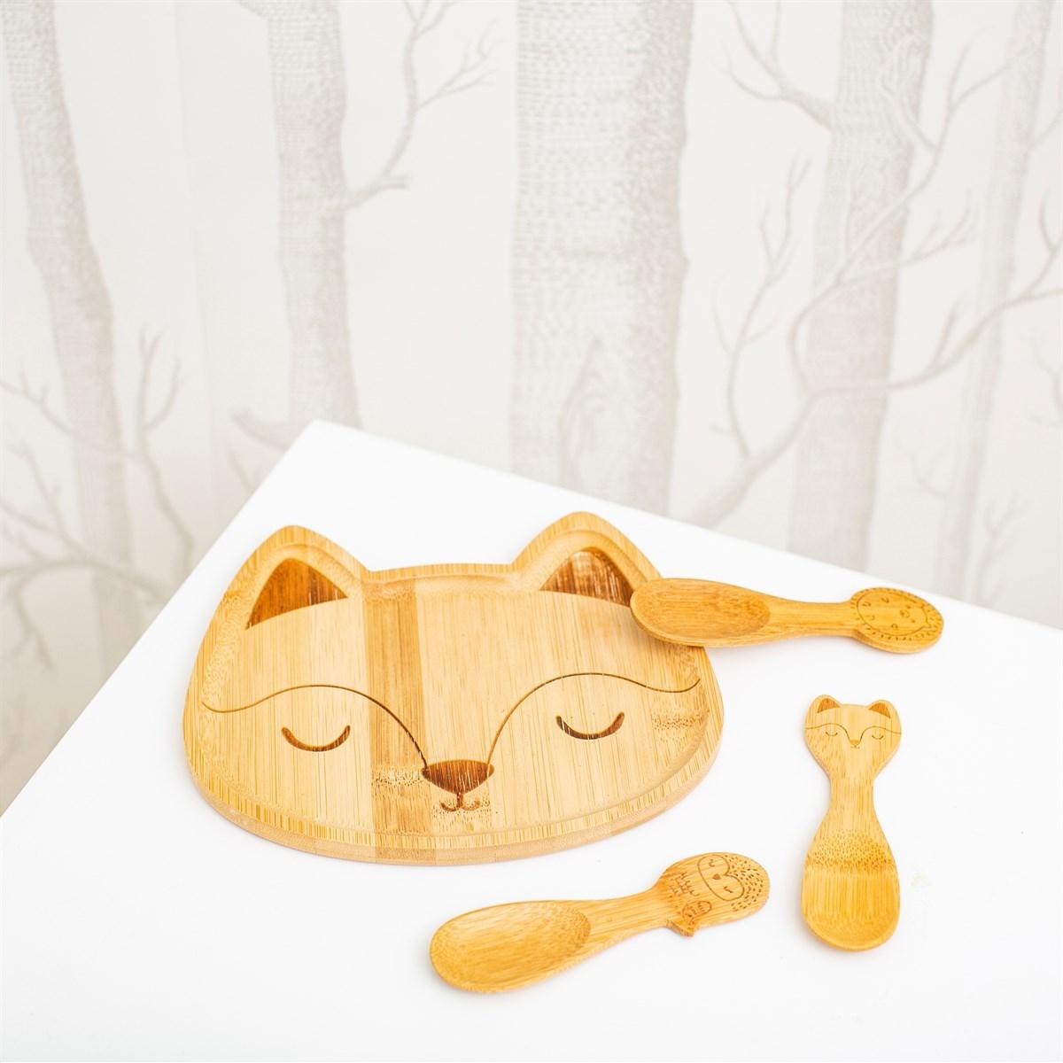 Bambusový talířek Woodland Fox_1