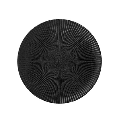 Černý kameninový talíř Neri - 18 cm_2