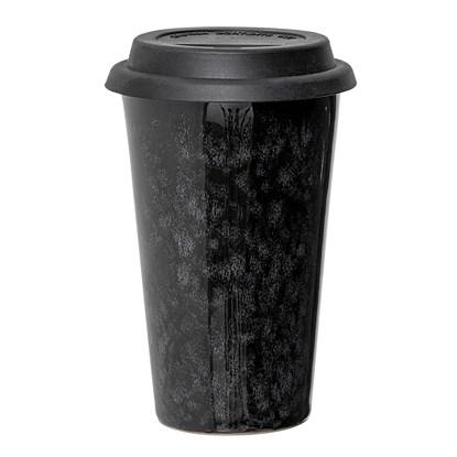 Hrnek Noir s víčkem - černý, 350 ml_0