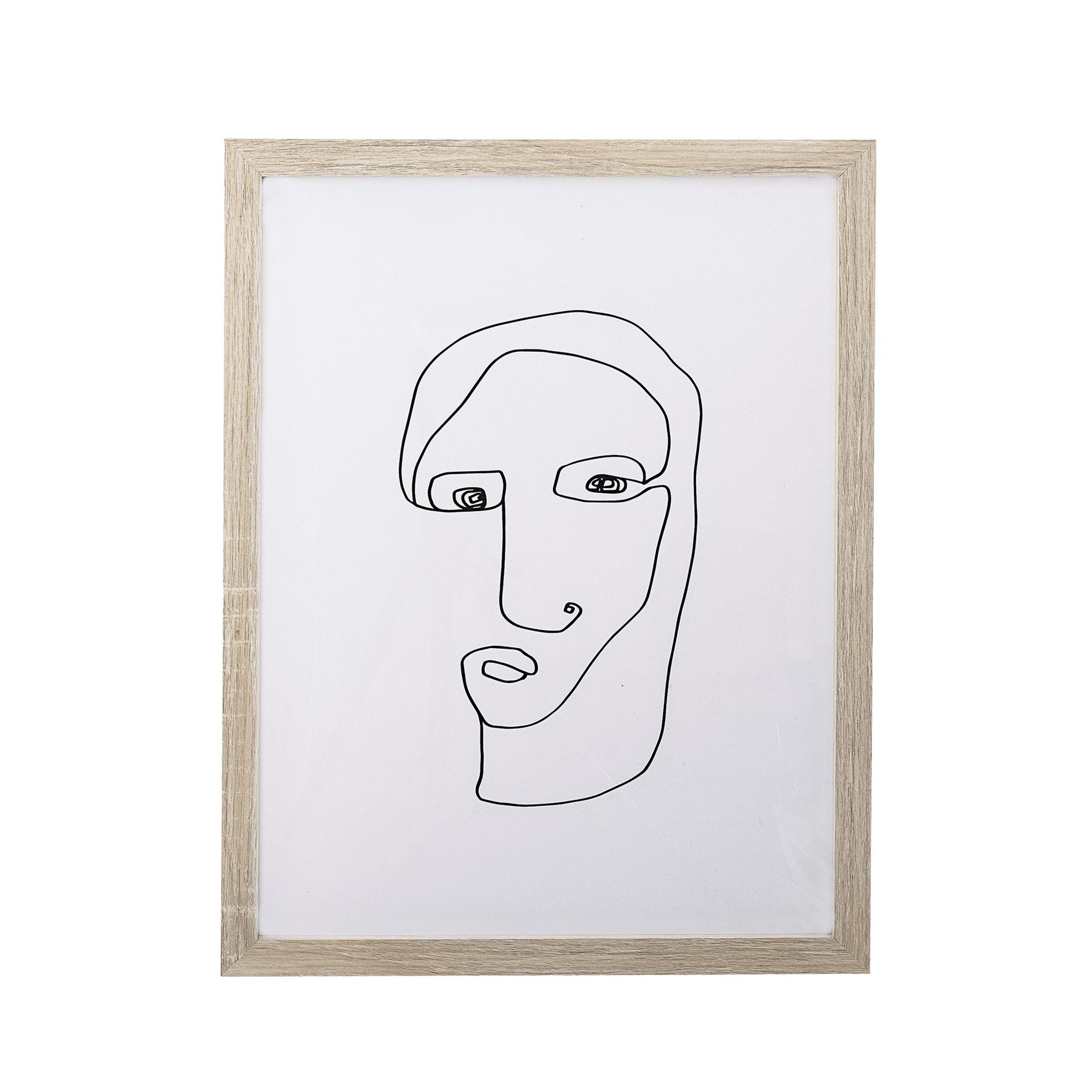 Obraz se siluetou obličeje, 45 cm_2