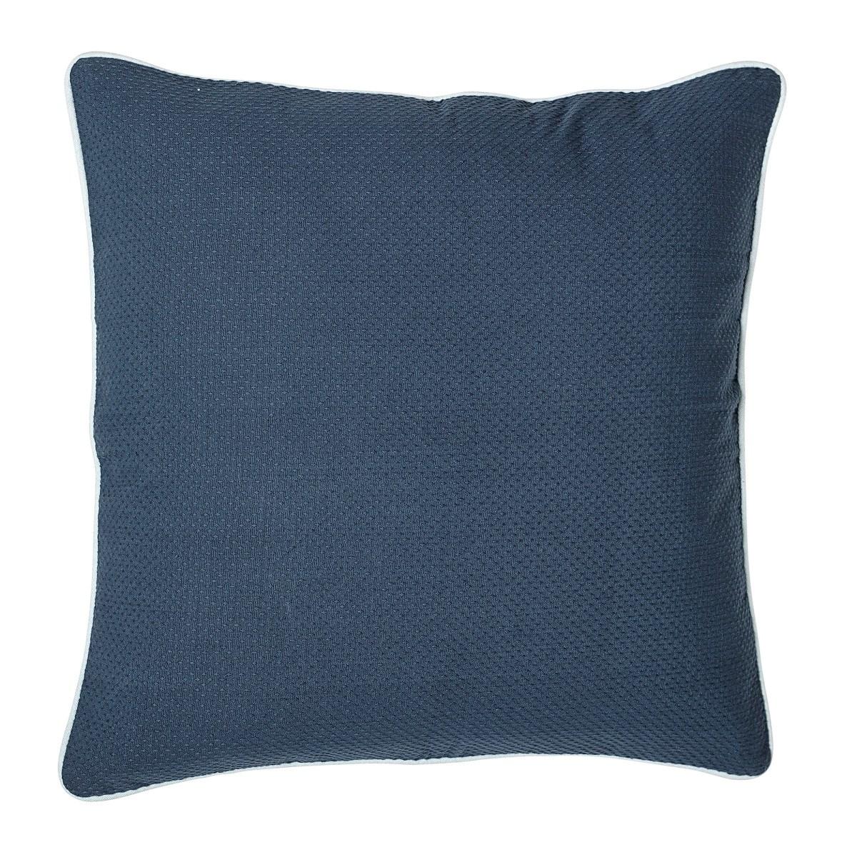 Polštář včetně výplně, 50x50 cm - modrý_3