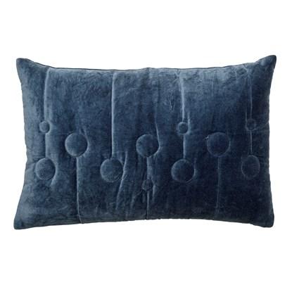 Polštář včetně výplně, 60x40 cm - modrý_3