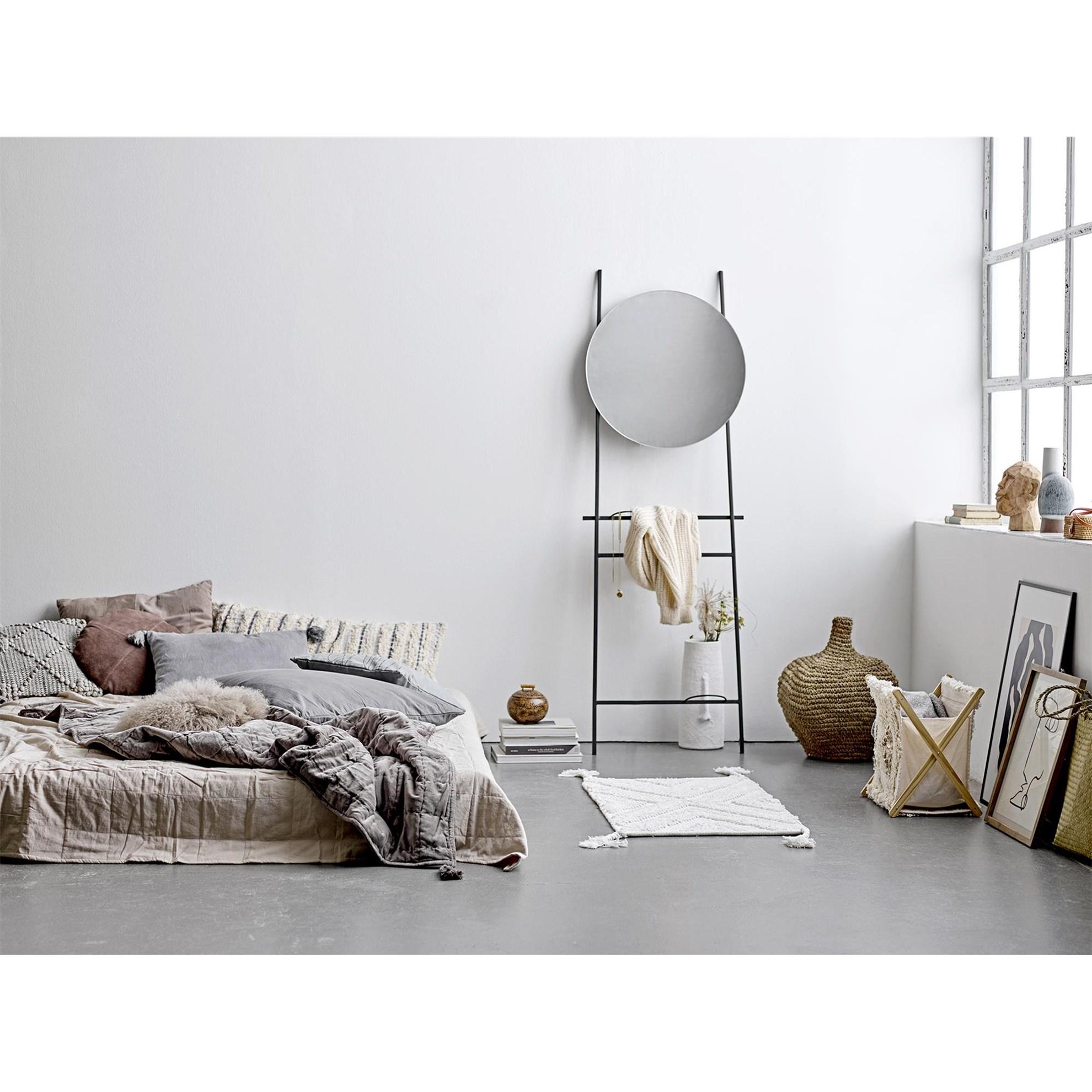 Polštář včetně výplně, 50x40 cm - šedý_2