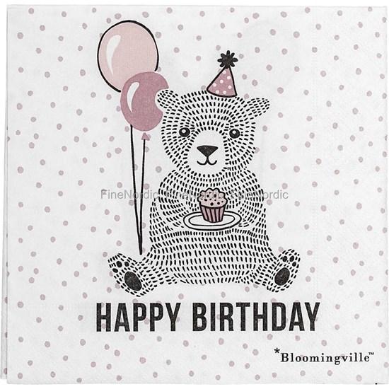 Papírové ubrousky Happy Birthday bal. 20 ks_0
