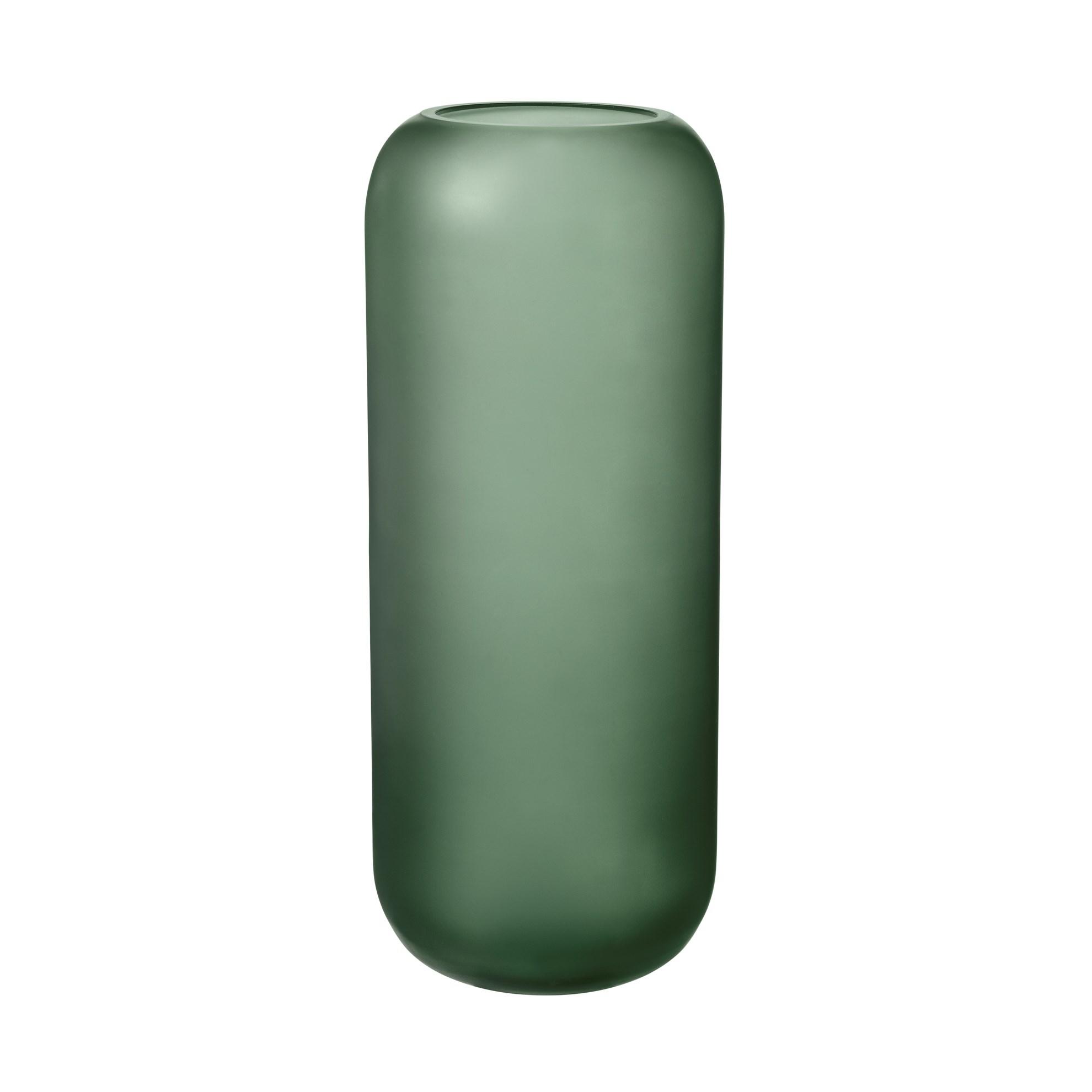 Skleněná váza OVALO 30 cm zelená mat_0