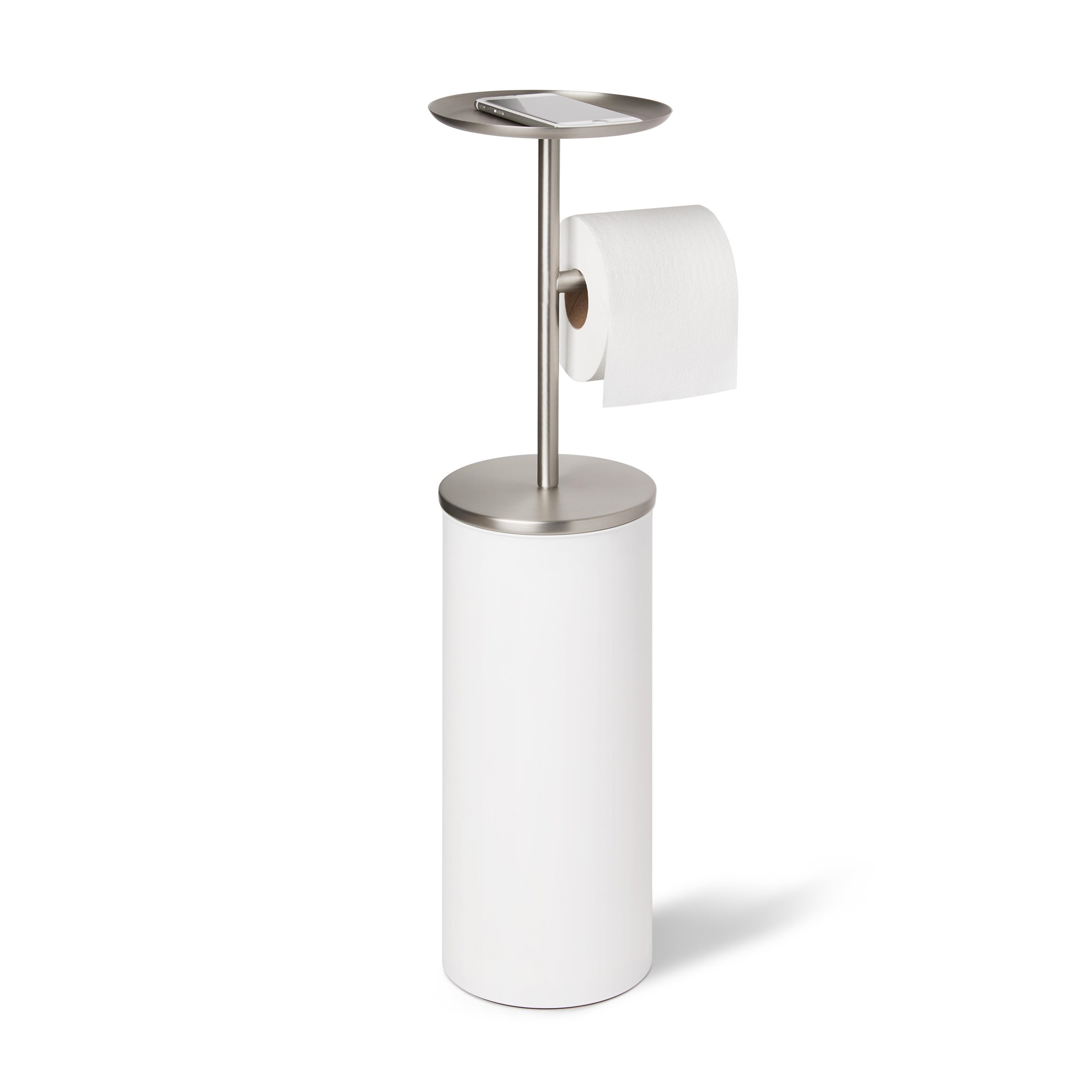 Držák na toaletní papír PORTALOO - bílá/nikl_0
