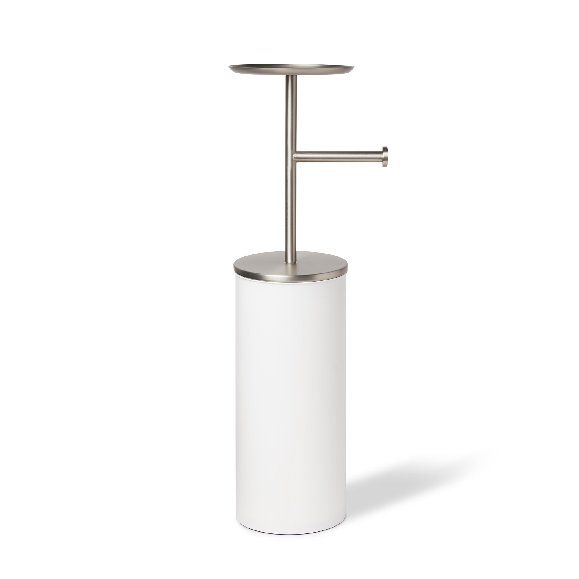 Držák na toaletní papír PORTALOO - bílá/nikl_1