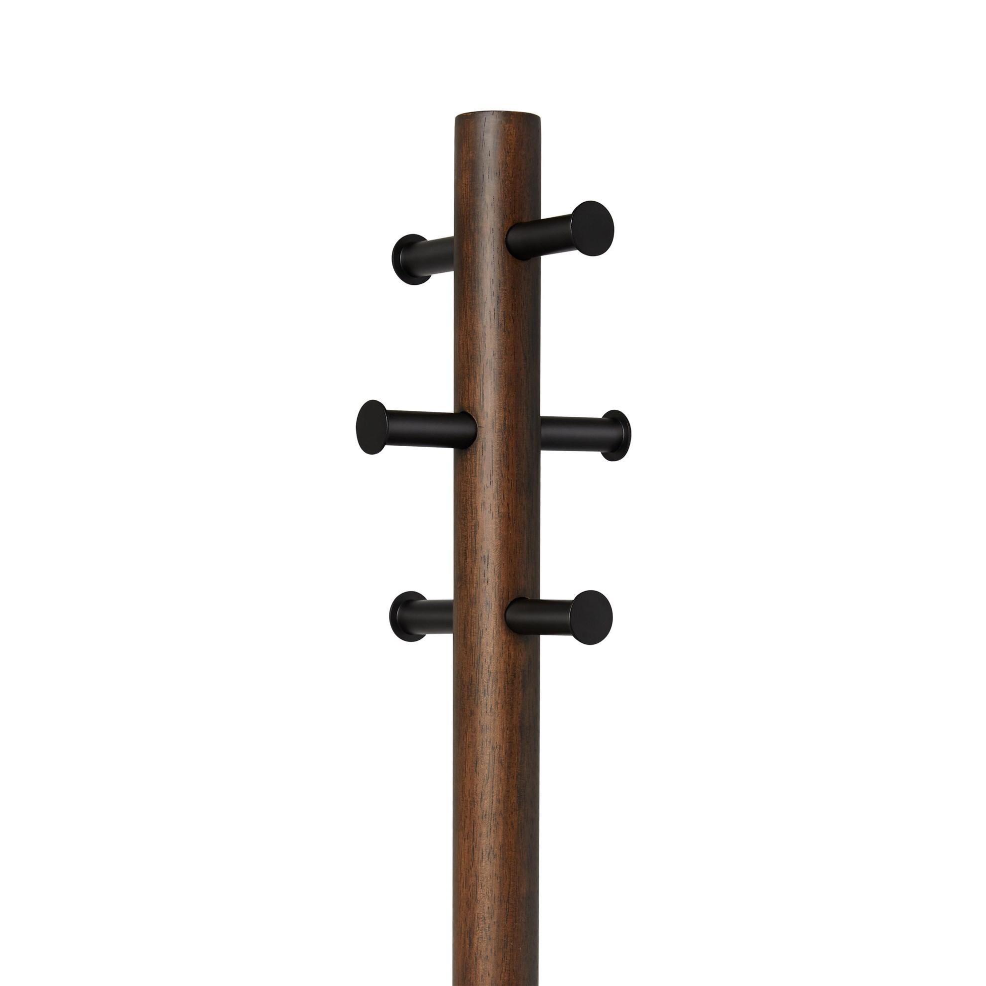 Věšák se stoličkou PILLAR 167x50 cm tm.hnědý_4