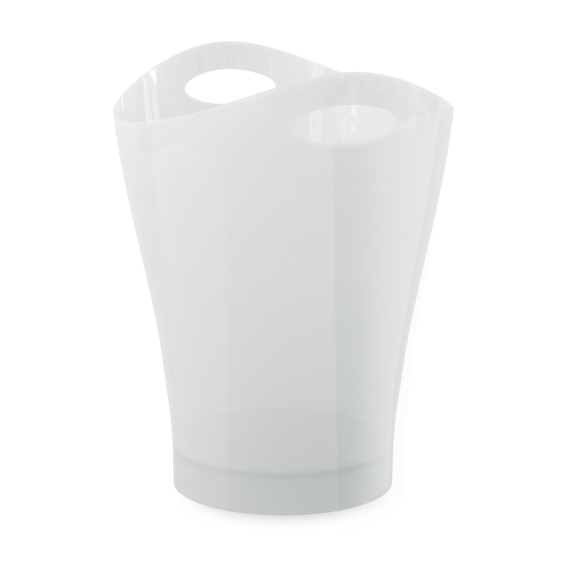 Odpadkový koš GARBINO lesklý/bílý_0