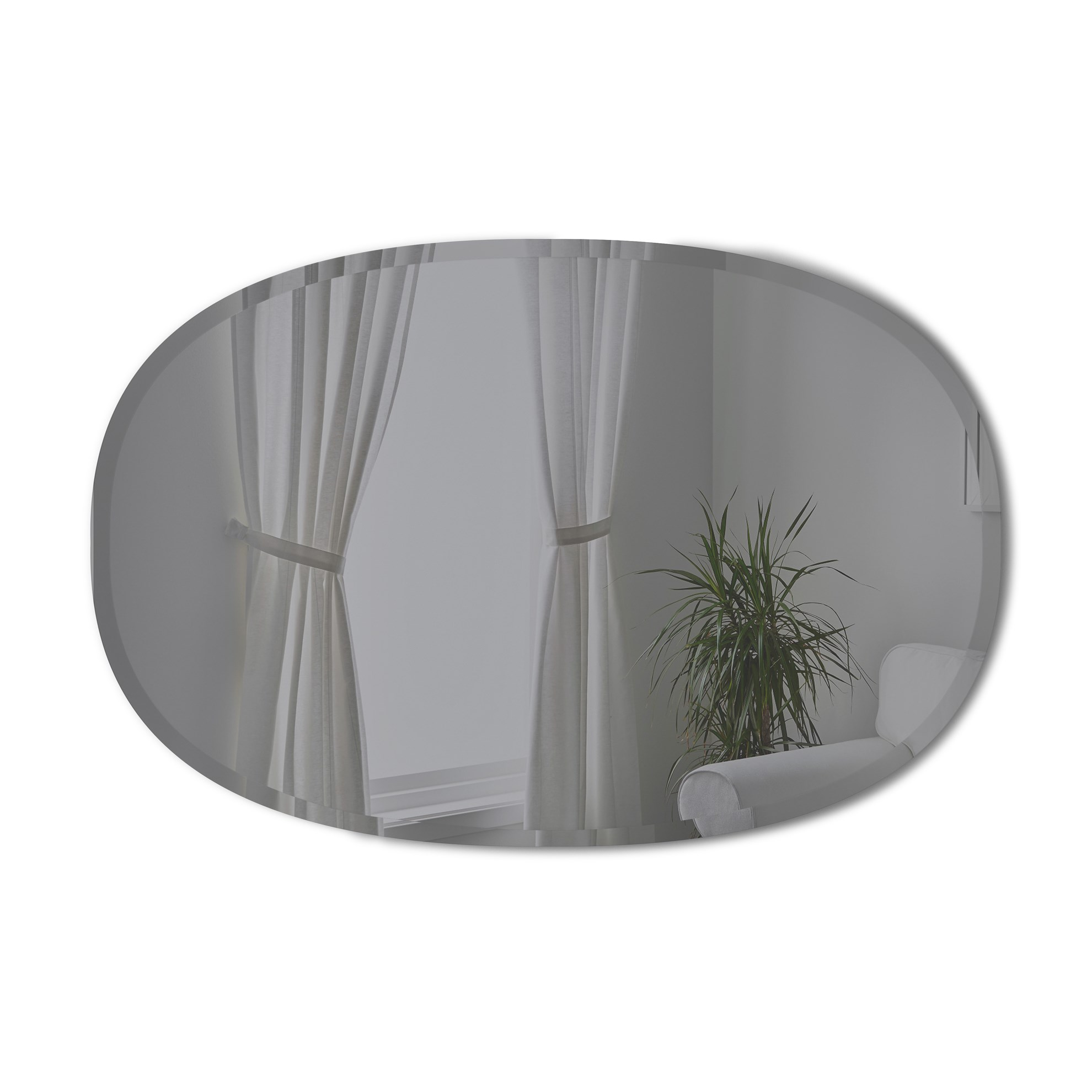 Zrcadlo HUB 61x91 cm kouřově šedé_0