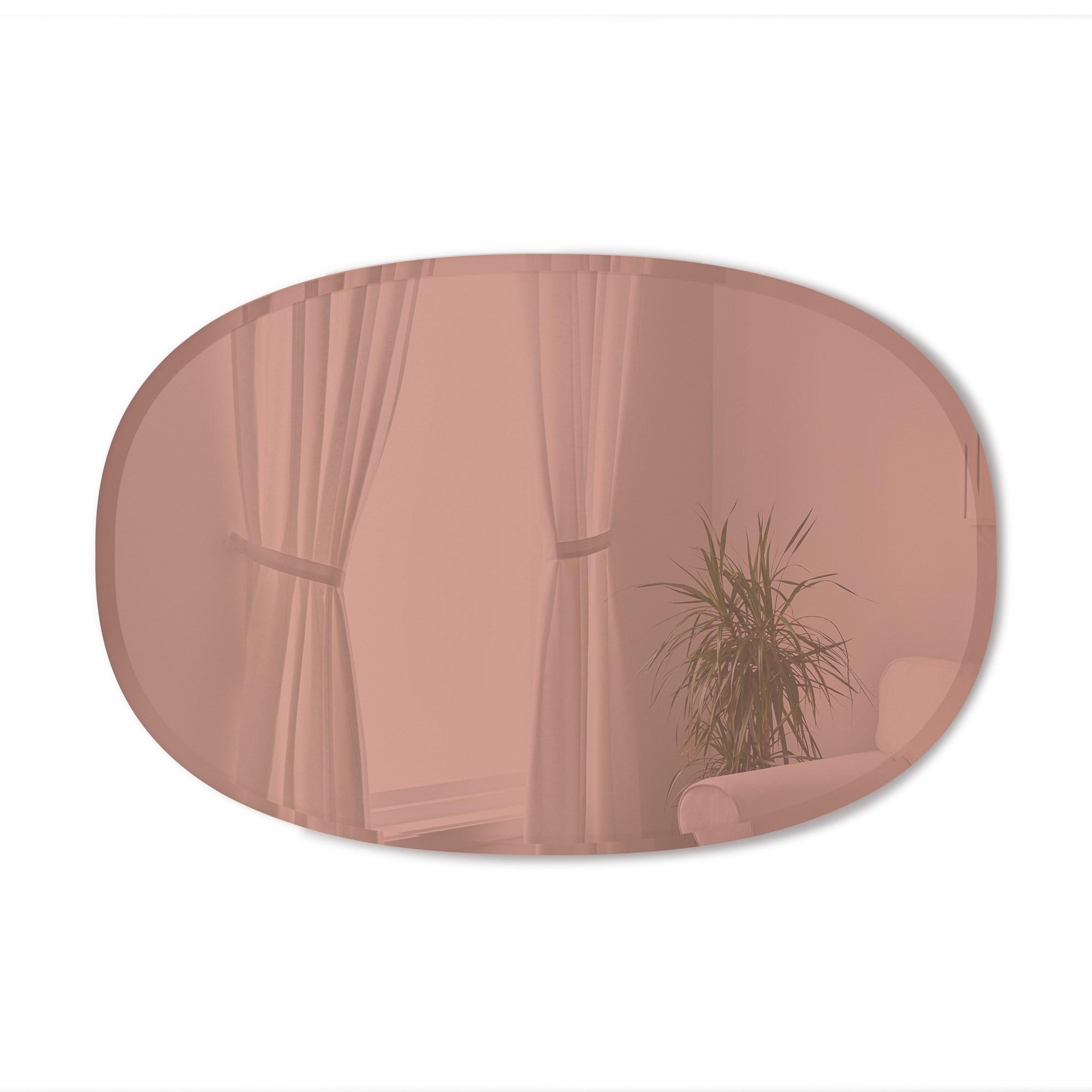 Zrcadlo HUB 61x91 cm měděné_0