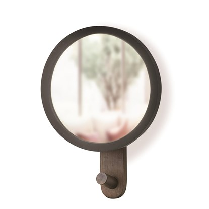 Menší zrcadlo HUB s háčkem černé_0