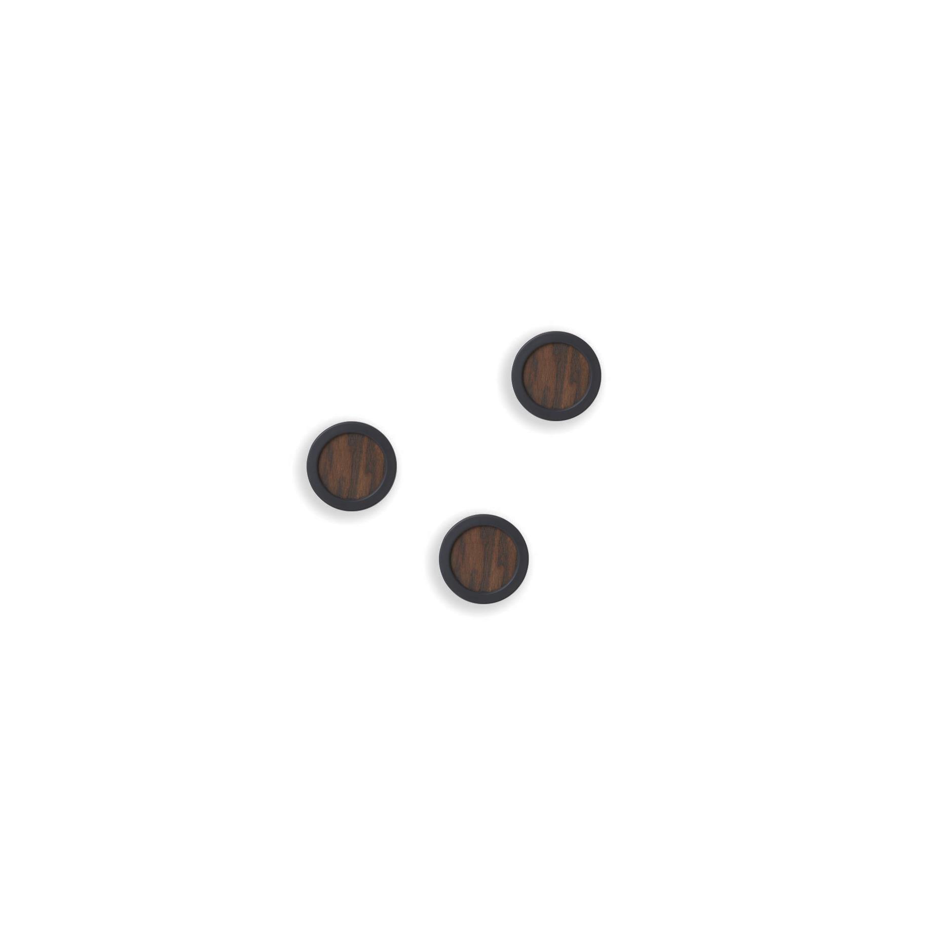 Set 3 háčků na stěnu HUB černá/tm.hnědá_1