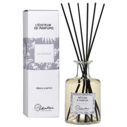 Vonný difuzér s černými dřívky 200 ml Linen&Cotton - L`editeur de parfums_0