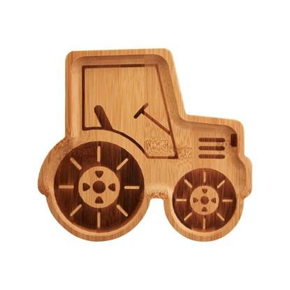 Bambusový talířek Tractor_1