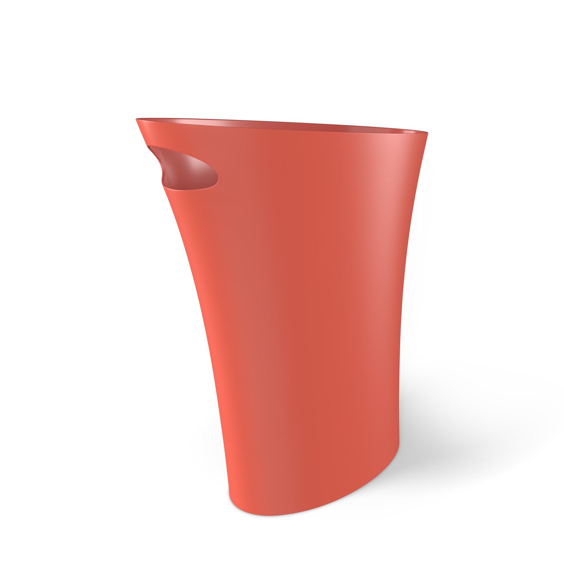 Odpadkový koš SKINNY 7,5 l korálová_0