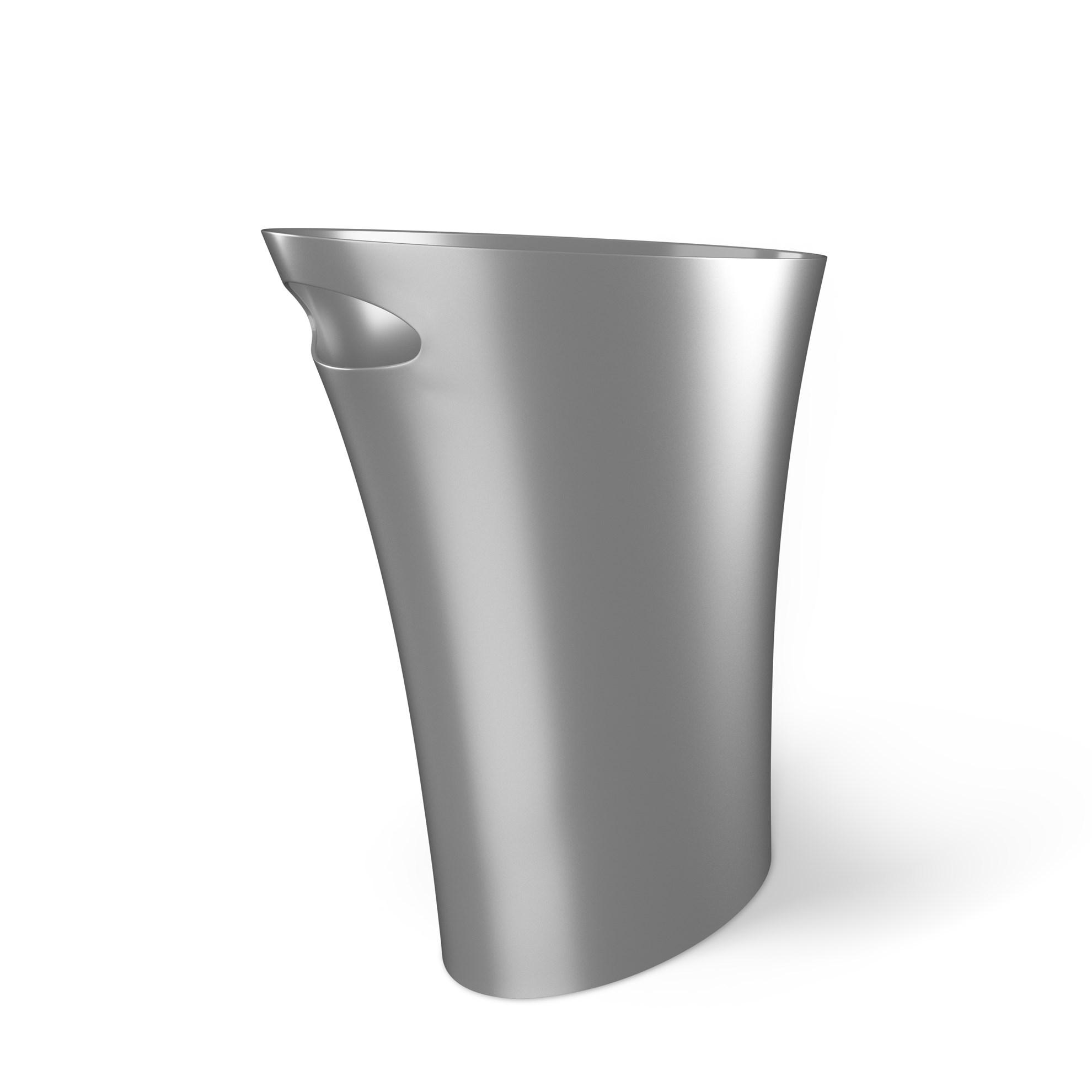 Odpadkový koš SKINNY 7,5 l stříbrný_0