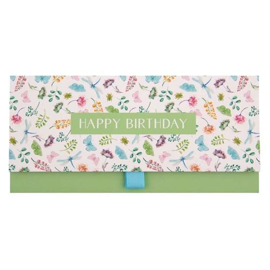 Dárková obálka 23x11 cm Happy Birthday Blumen_0
