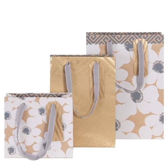 Kvalitní dárkové tašky SET/3 vel. Kraftrippe Blume Muste_0