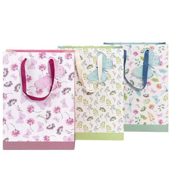 Kvalitní dárkové tašky SET/3 druhy Blumen Schmetterling_0