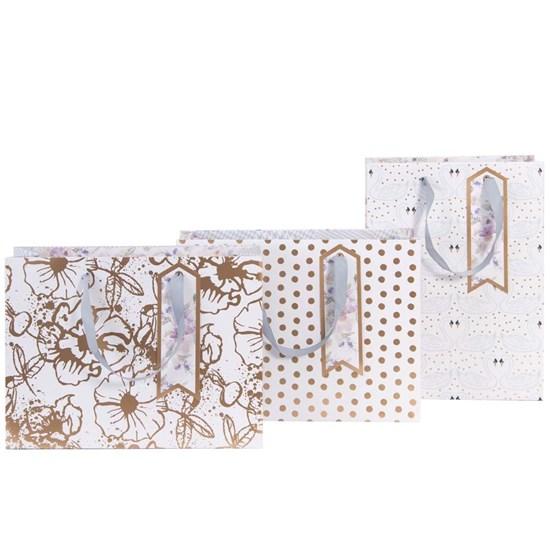 Kvalitní dárkové tašky SET/3 vel. Blüten Dots_0
