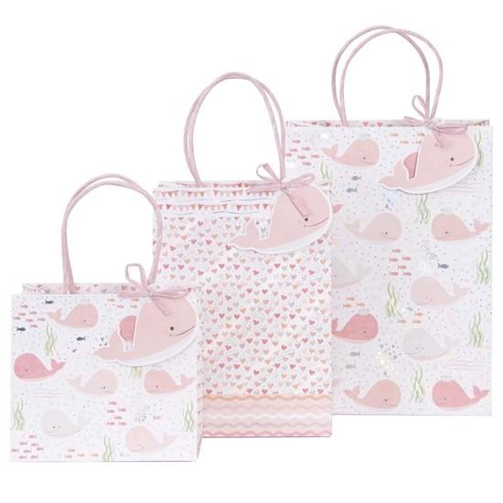 Kvalitní dárkové tašky SET/3 vel. Wal rosé_0