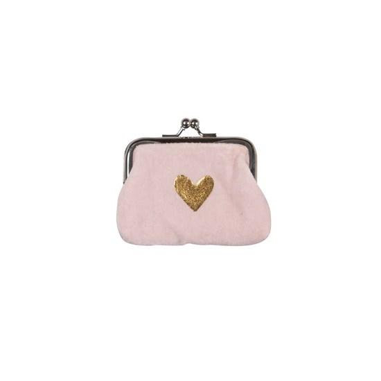 Sametová peněženka na drobné 11x8 cm Herz rosé_0