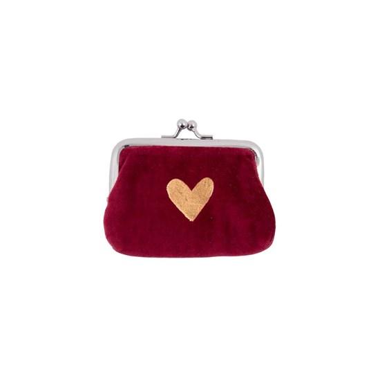 Sametová peněženka na drobné 11x8 cm_0