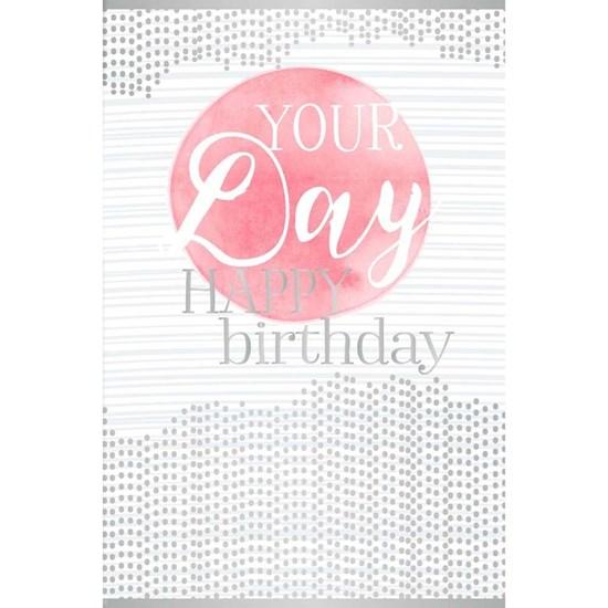 Přání ražené Birthday Transparent_0