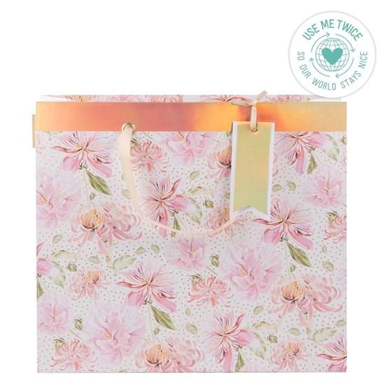 Kvalitní dárková taška 32,5x37x11 cm Chrysantheme_0