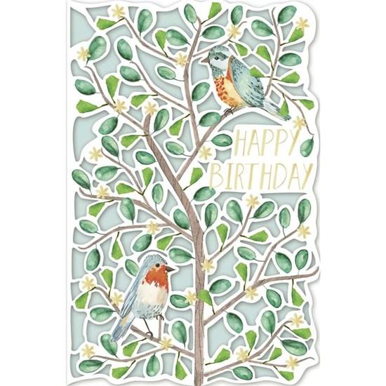 Přání s obálkou ražené Birthday Vögel_0