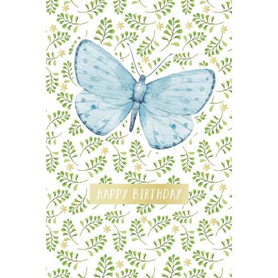 Přání s obálkou ražené Birthday Schmetterling_0