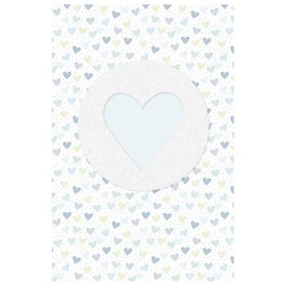 Dětské přání s obálkou Herzen bleu Schleife Glitter_0